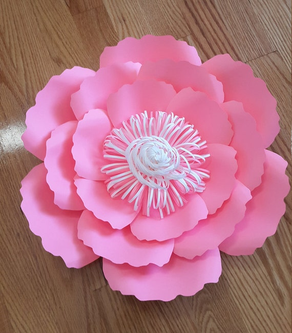 Paper flower template svg cut file paper flower pattern diy etsy image 0 mightylinksfo
