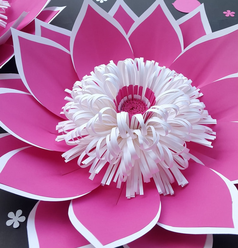 Loopy Paper Flower Center SVG Cut file  Paper Flower Center image 0