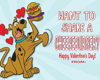 Scooby Valentines Etsy
