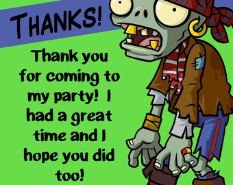 Zombie Thank You Print at Home File