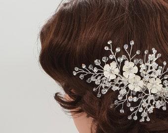 Wedding hair accessories, bridal hair clip, Bridal headpiece, wedding headpiece, Wedding hair piece, crystal headpiece, rhinestone clip, EVE