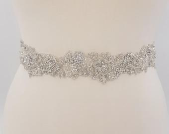 Bridal belt, wedding belt, bridal sash, rhinestone belt, wedding dress belt, beaded bridal belt,  bridal belts, pearl bridal belt, VIRGINIA