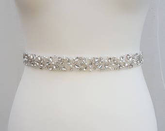 All around, diamante belt, pearl bridal belt, bridal belt, crystal trim, luxury bridal belt, pearl belt, pearl sash, pearl wedding belt, JOY