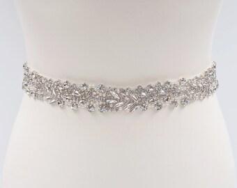 Wedding dress belt, bridal belt, pearl bridal belt, pearl belt, beaded bridal belt, belts and sashes, wedding belt, rhinestone belt, ALYSSA