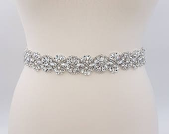 Bridal belt, wedding belt, bridal sash, rhinestone belt, wedding sash, wedding dress belt, sash belt, wedding dress sash, CAMILLA
