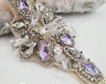 Purple sash belt, galactic sash belt, purple sash, sash belt, bridal embellishment, Sci-Fi wedding, Galactic belt, bridal sash belt, BELINDA