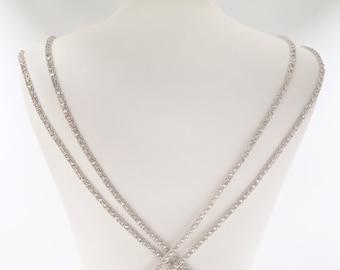 Bridal spaghetti straps, super tiny trim, sew on trim, wedding dress straps, crystal straps, thin rhinestone trim, bridal straps, ANDREIA