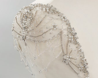 Wedding dress straps, bridal cap-sleeve, crystal straps, wedding dress, bridal straps, Beaded shoulders, cap-sleeve straps, PENELOPE