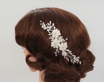 Bridal headpiece, Wedding headpiece, Bridal hair comb,bridal comb, wedding hair piece, flower headpiece, bridal flower comb, GISELLE