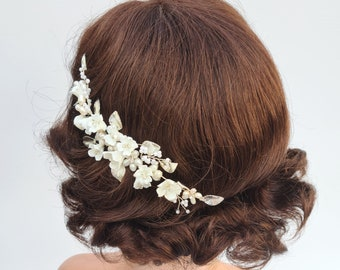 Bridal headpiece, pearl bridal comb, bridal comb, delicate hair comb, wedding headpiece, bridal hair comb, wedding hair piece, JASMINE