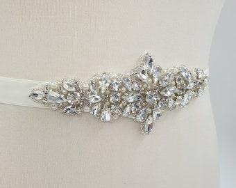 Bridal belt, bridal sash, Diamante belt, crystal belt, rhinestone belt, beaded belt, wedding dress belt, wedding sash, sash belt, EDEN