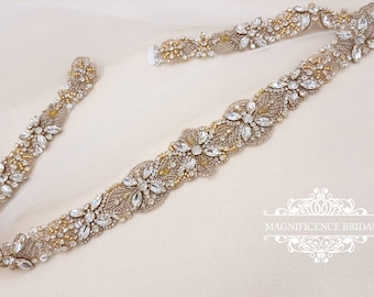 Gold bridal belt, gold belt, Champagne belt, wedding belt, Bridal belt, gold wedding, vintage gold belt, sparkle belt, gold sash, JAMIE