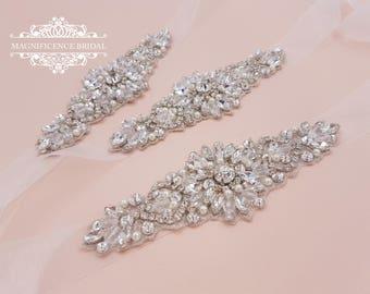 Bridal applique, Small bridal belt, vintage style sash, Bridesmaid sash, bridal sash, small bridal sash, thin bridal sash, sash belt, CLAIRE