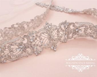 Couture bridal belt,  wedding belt, bridal sash, Bridal belt,rhinestone belt, wedding dress belt, beaded bridal belt, wedding sash, ADRIANA