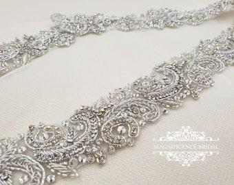 All around belt, beaded bridal belt, Bridal belt, bridal sash, bridal waist belt, crystal belt, diamante belt, diamante bridal sash, LINDA