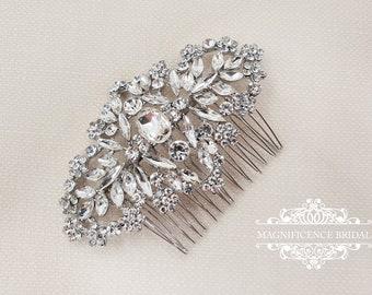 Wedding hair comb, bridal hair comb, bridal comb, wedding comb, crystal comb, vintage hair comb, crystal hair comb, rhinestone comb,  ARVEN