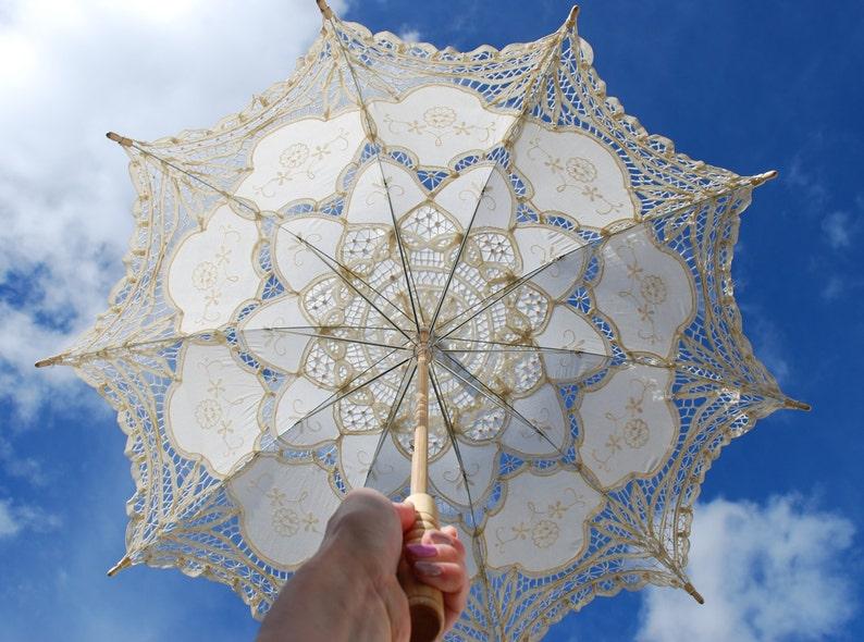 Lace parasol lace umbrella 30 Victorian parasol image 0