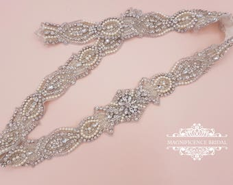 Bridal belt, wedding belt, bridal sash, rhinestone belt, sash belt, wedding sash belt, crystal belt, bridal trim, rhinestone sash, TRACY