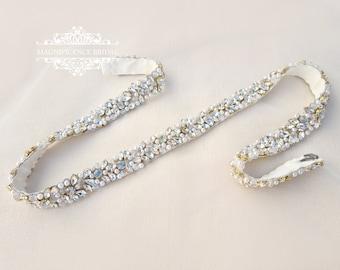 Gold wedding belt, Gold bridal belt, pearl belt, Bridal belt, gold pearl belt, wedding dress belt, pearl bridal belt, wedding belt JULES