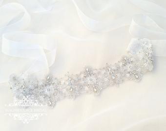 Crystal bridal belt, Wide bridal belt, statement belt, wide wedding belt, bridal belt, rhinestone belt, bridal sash, diamante belt, MARGOT