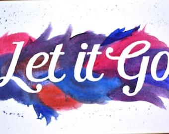 Custom Text Acrylic Painting 10x20