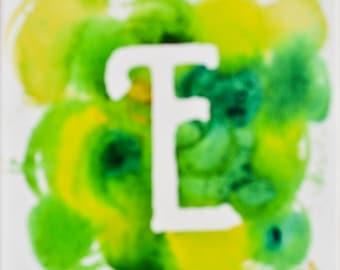 E Acrylic Painting 6x6