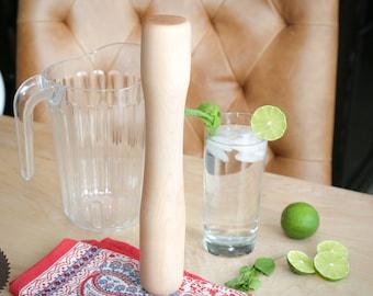 Handmade Cocktail Muddler - Large Muddler - Solid Wood - Housewarming, Gourmet Kitchen and Bar, Home Chef, Food Prep, Hostess Gift