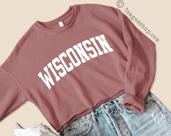 University of Wisconsin Cropped Zip-up Tee
