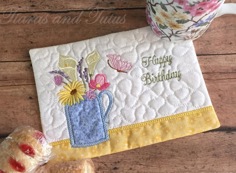 Happy Birthday Gift For Women Embroidered With Multicolored