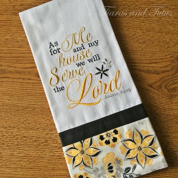 Dish Towel Kitchen Towel Embroidered Christian Kitchen