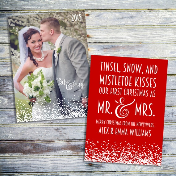 our first christmas as mr and mrs card just married etsy