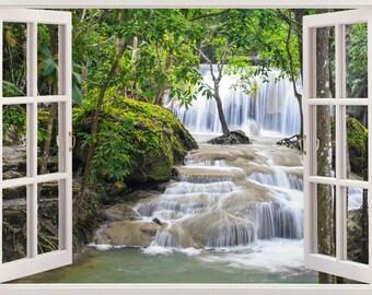 Waterfall Rainbow Niagara Falls Window Wall Sticker Home Decor Art Mural