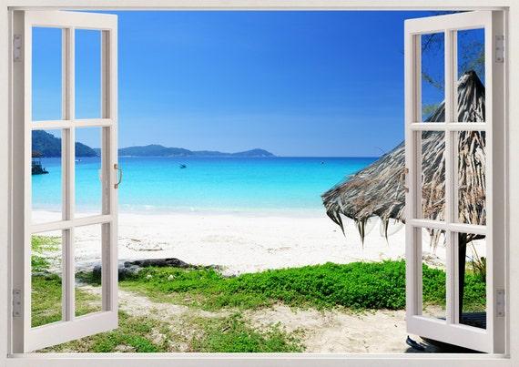 OLSR/® 3D Hermosa playa Adhesivo de suelo desmontable impermeable pegatina de pared Pegatinas Decorativas Adhesiva Pared Dormitorio Sal/ón Guarder/ía Habitaci/ón Beb/és Infantiles Ni/ños 03