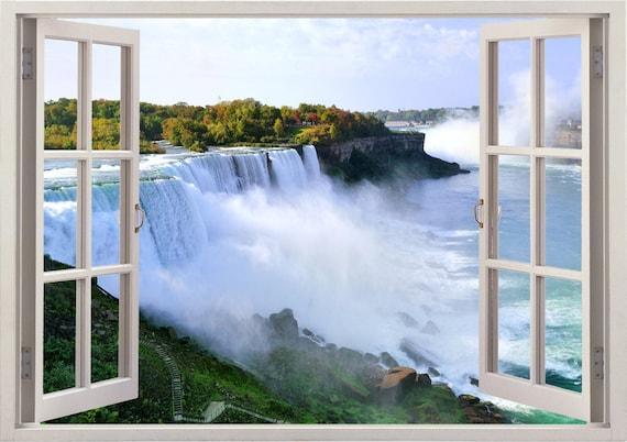 Niagara Falls Rainbow 3D Full Wall Mural Print Wallpaper Home Decal Decor Kids