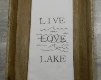 Flour Sack Tea Towels- Lake