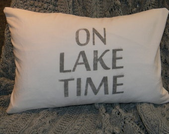 Cotton Pillow Cover- On Lake Time