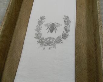 Flour Sack Tea Towels- Bee Crest