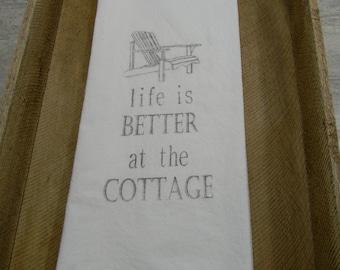 Flour Sack Tea Towels- Life at the Cottage