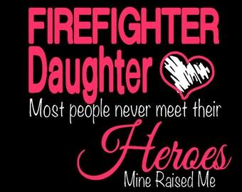 Firefighter Daughter Hoodie or sweatshirt