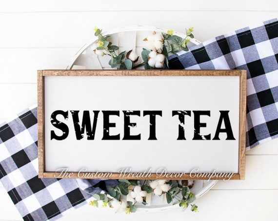 "24"" x 10"" Sweet Tea Sign, Rustic Sweet Tea Sign, Southern Sweet Tea Sign, Kitchen Sign"