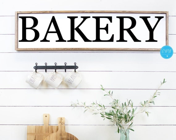 Bakery Sign, Rustic Bakery Sign, Rustic Kitchen Sign