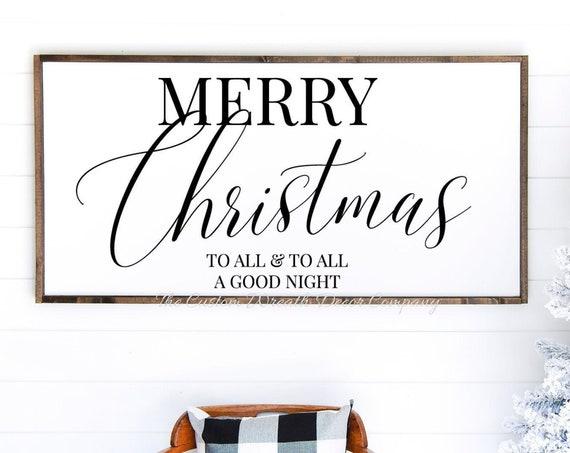 Merry Christmas Sign, Rustic Christmas Sign
