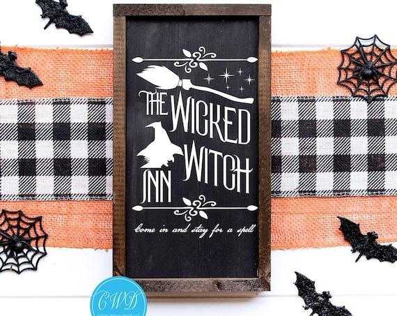 Wicked Witch Sign, Halloween Decor Sign