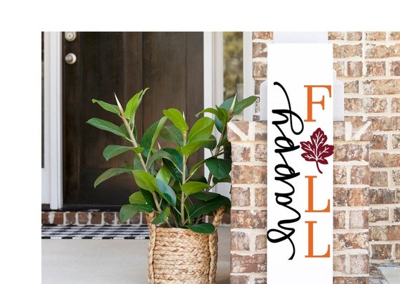 Happy Fall Porch Sign, Fall Porch Sign