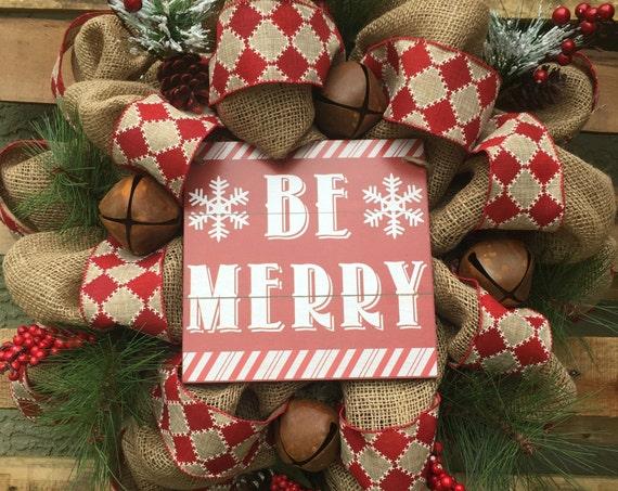 Rustic Christmas Wreath, Burlap Christmas Wreath, Rustic Burlap Christmas Wreath, Rustic Burlap Wreath, Holiday Wreath, Christmas Wreath