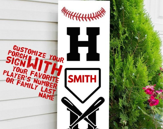 Baseball Porch Sign