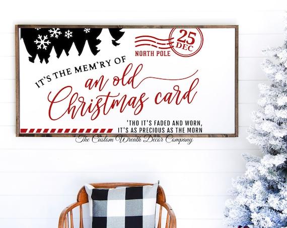 """24"""" x 12"""" Christmas Sign, Rustic Christmas Card Sign, Farmhouse Style Christmas Decor"""