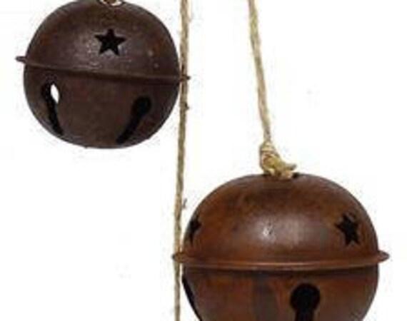 "21"" Rusty Jingle Bell Cluster Ornament XC4170, Jingle Bell Ornament"
