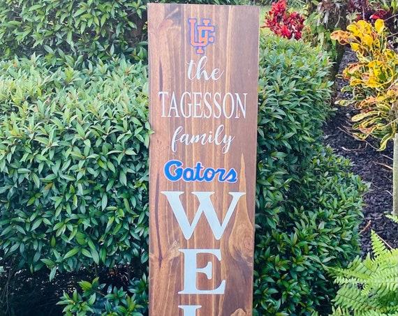 Florida Gators Porch Sign, Gators Porch Sign, Florida Gators Porch Leaner, Gators Decor
