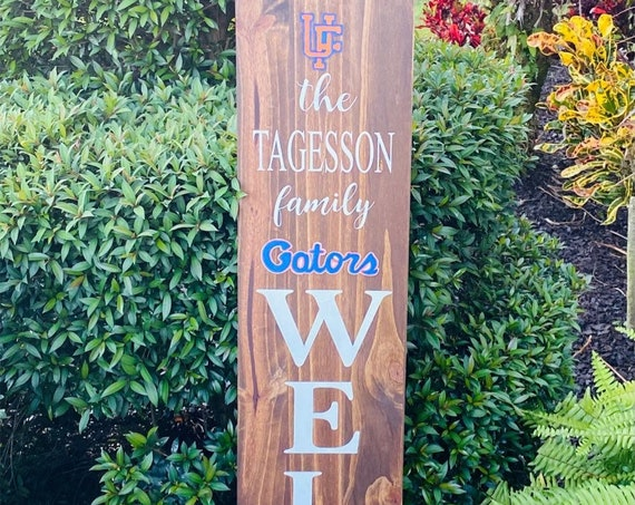 Florida Gators Porch Sign, Gators Porch Sign, Florida Gators Porch Leaner, Gators Decor